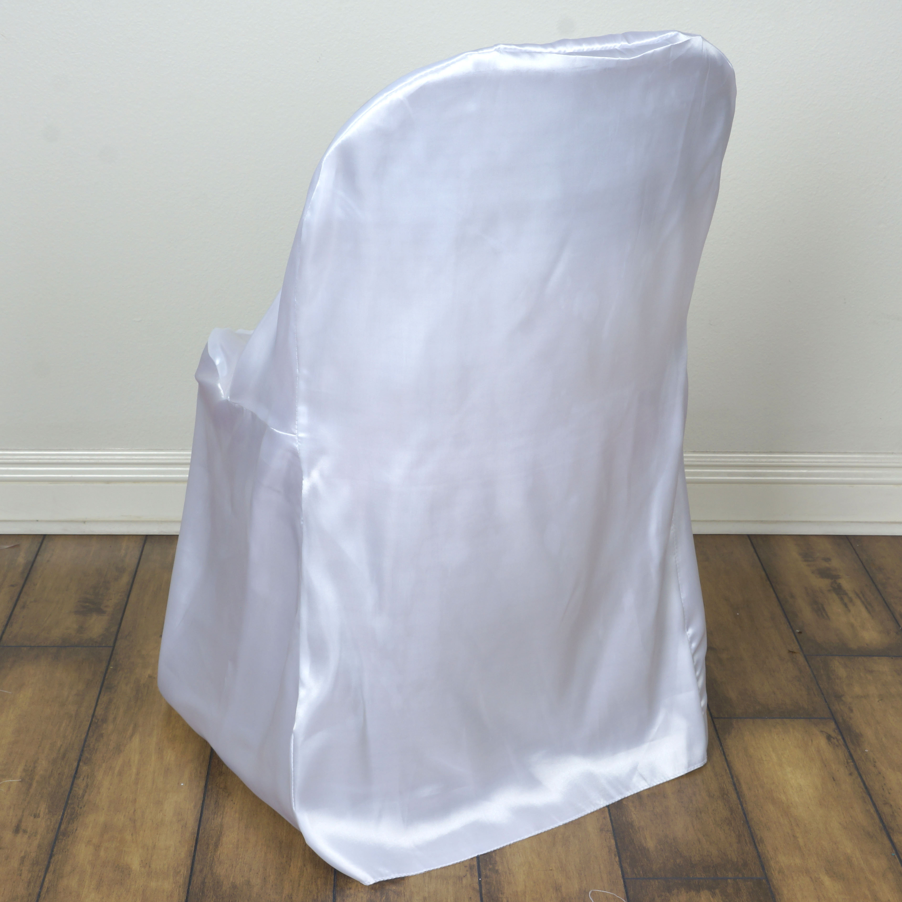 100 Pcs Satin Folding CHAIR COVERS Wedding Catering Party SALE FREE SHIPPIN