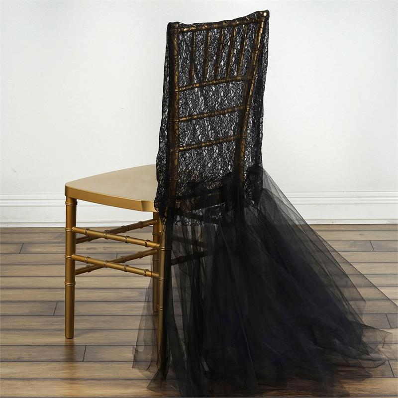 Lace With Tulle Tutu CHAIR COVER Wedding Reception Party Supplies WHOLESALE
