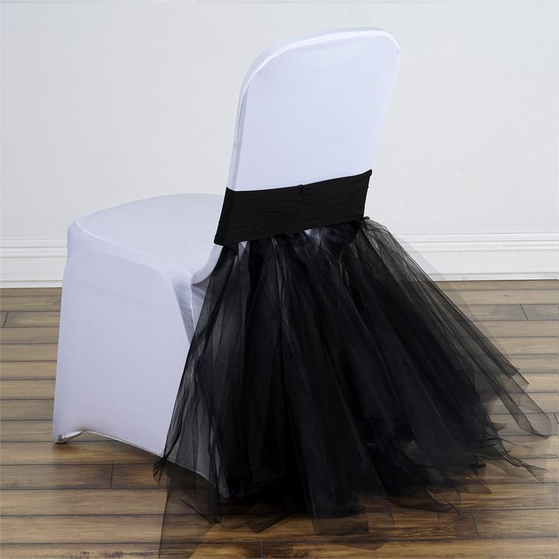 Spandex With Tulle Tutu CHAIR COVER Wedding Reception Party Supplies WHOLESAL