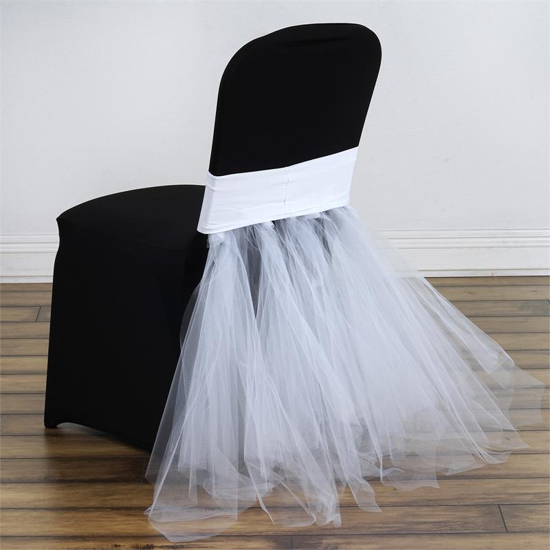 Spandex With Tulle Tutu Chair Cover Wedding Reception