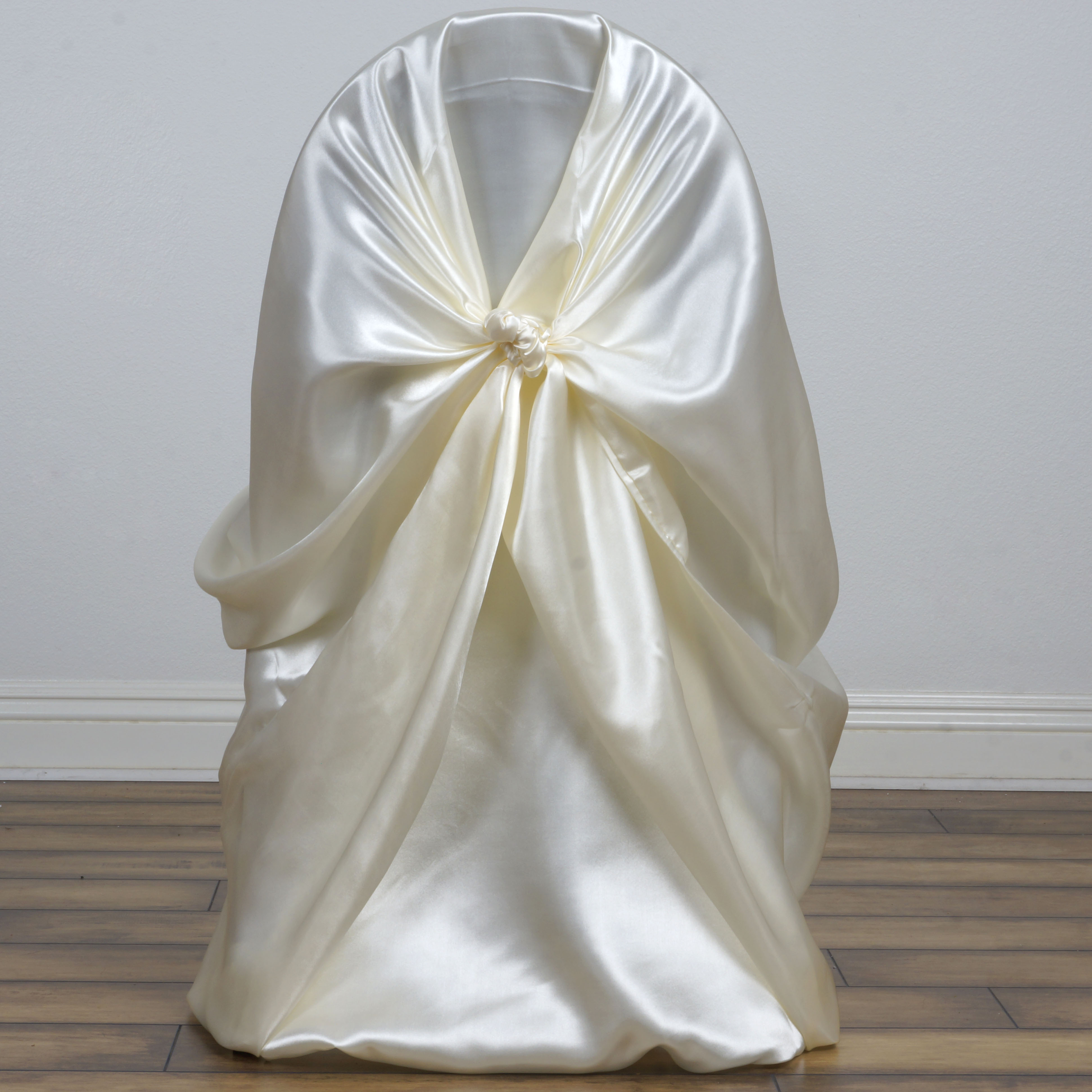 50 Universal Self Tie SATIN CHAIR COVERS for any kind of CHAIRS