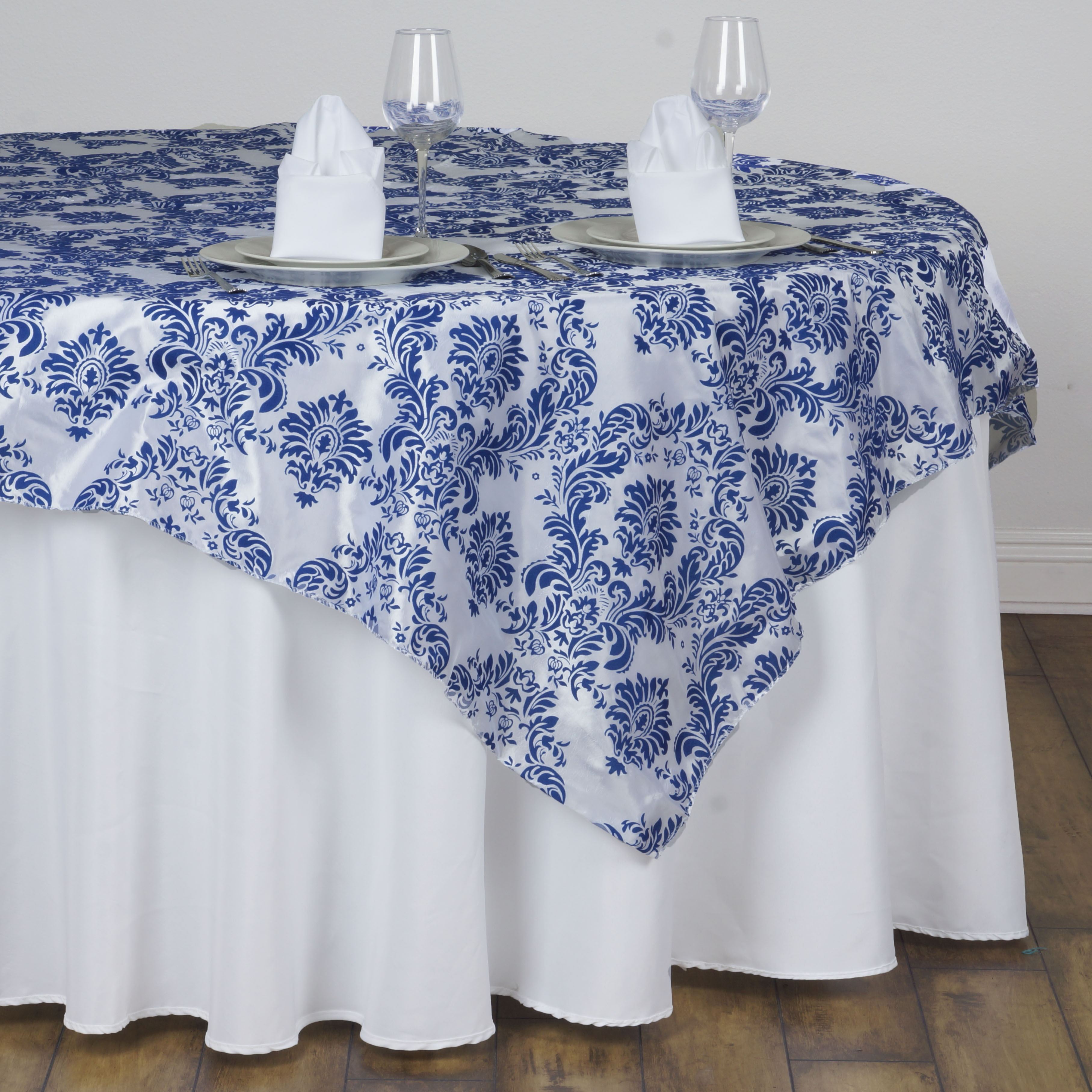 10 Pcs 90x90 Damask Flocking Table Top OVERLAYS Wedding Party Wholesale