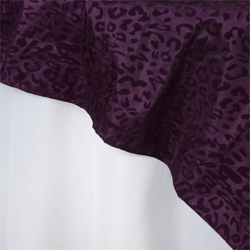 60x60 Quot Leopard Safari Animal Print Table Overlay Topper