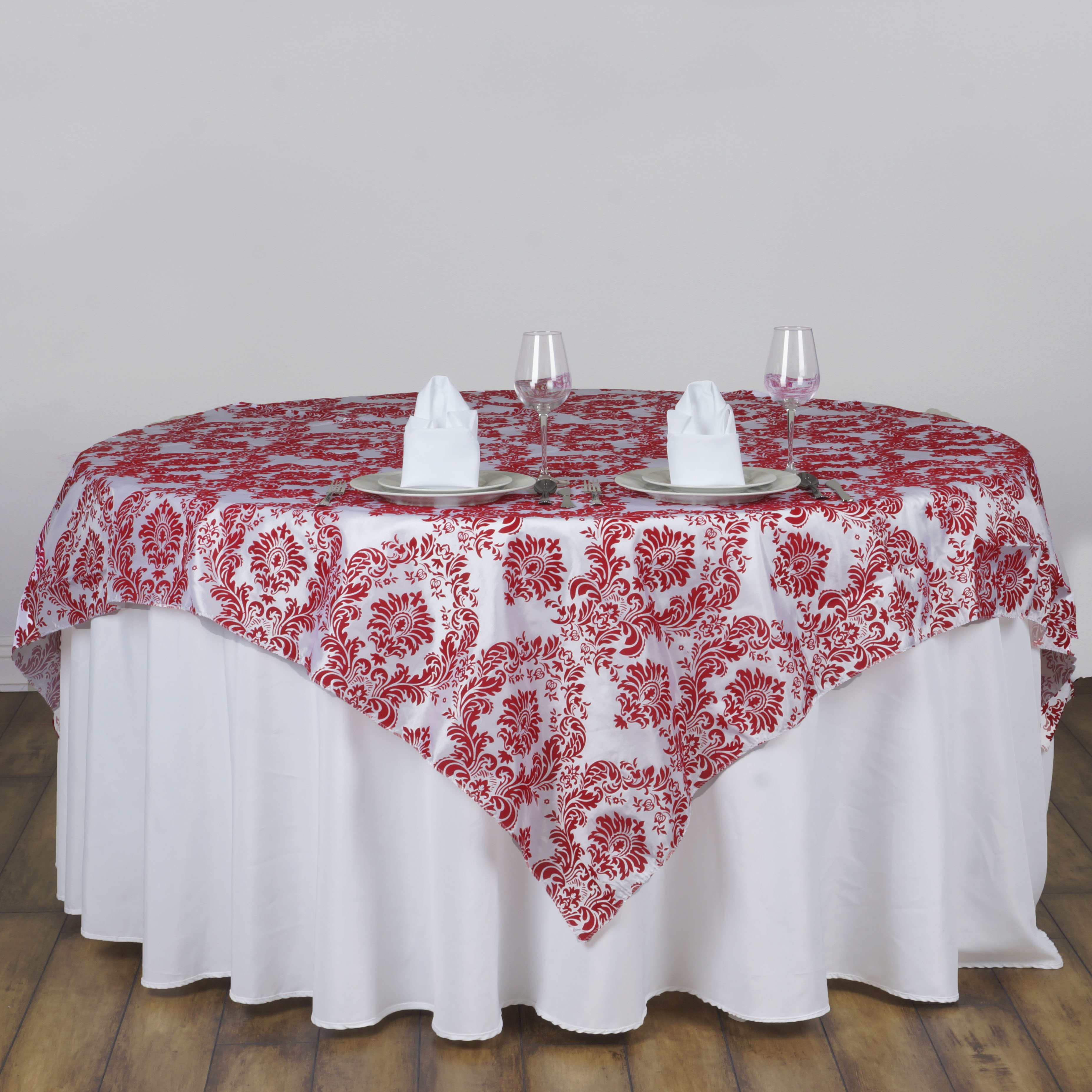 1 pc 60 x60 damask flocking table overlays buy wedding for Where can i buy table linens