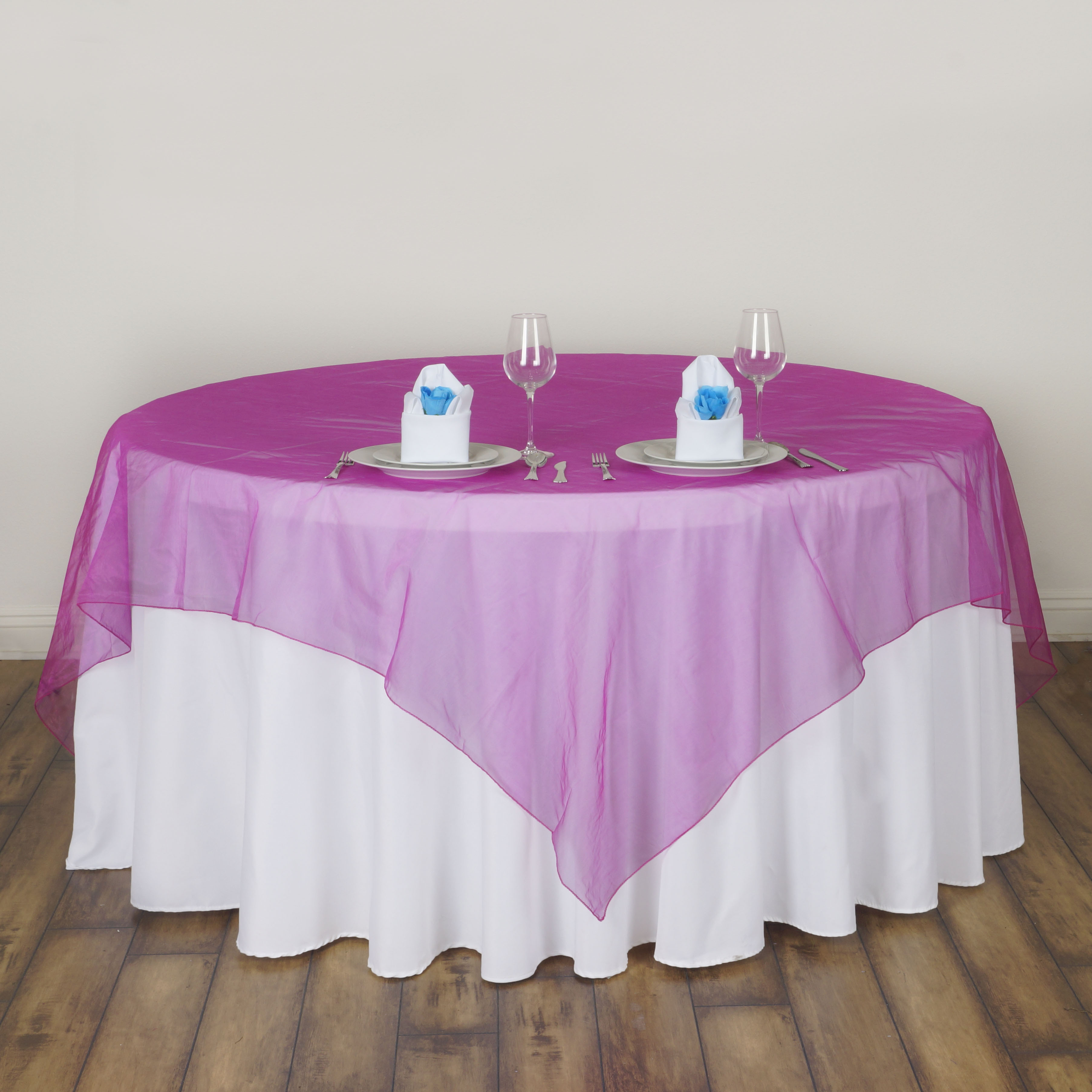 10 Pc 72x72 Quot Sheer Organza Table Overlays Wedding Party
