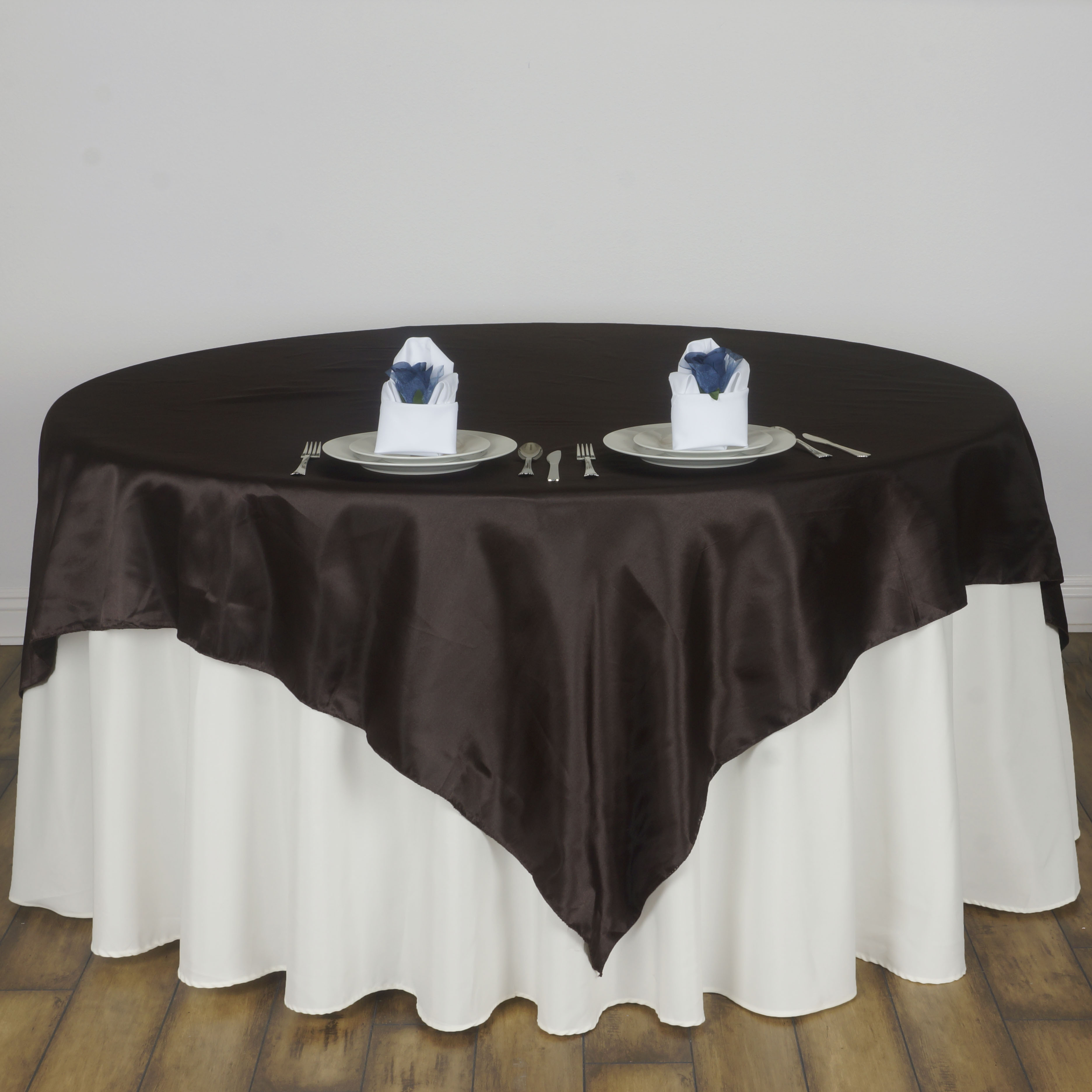 """Linens For Weddings: 15 Pcs 72x72"""" Square SATIN Table Overlays Wedding Linens"""