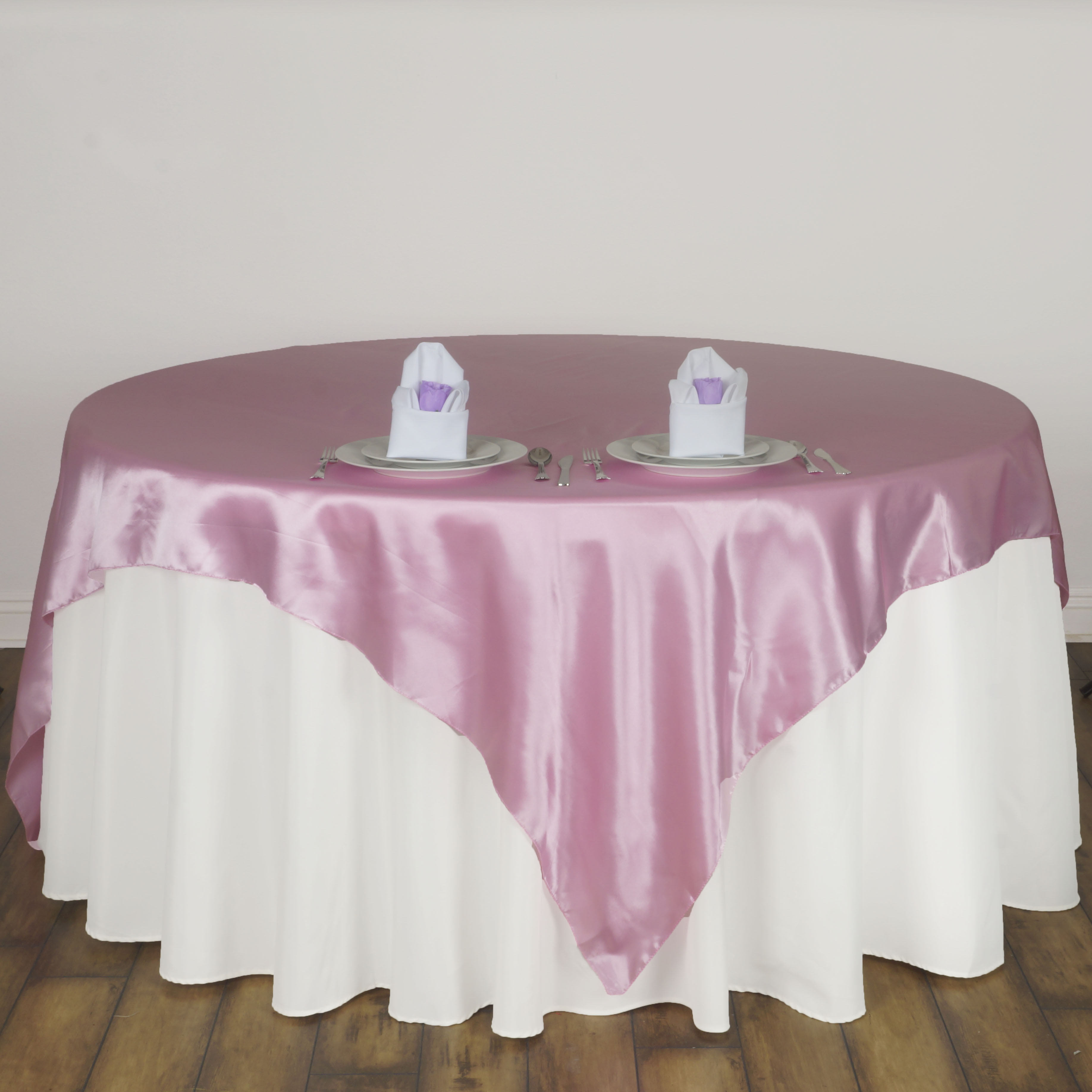 15 Pcs 72x72 Square SATIN Table Overlays Wedding Linens For Reception W