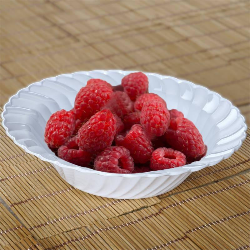16 oz PLASTIC Waved ROUND BOWLS Disposable TABLEWARE ...