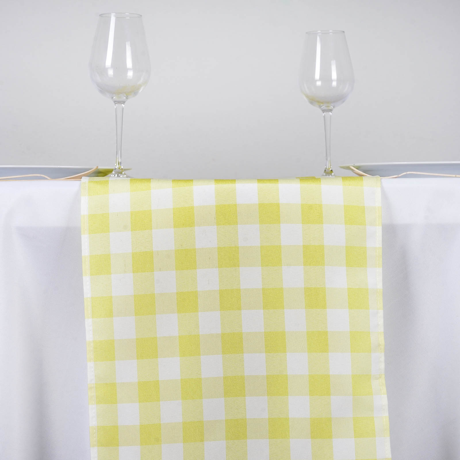 14 x 108 checkered gingham table runner polyester for 108 table runner