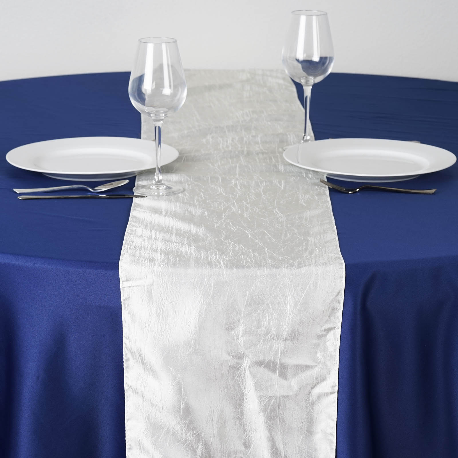 12 x 108 taffeta crinkle table top runner linens wedding for 108 table runner