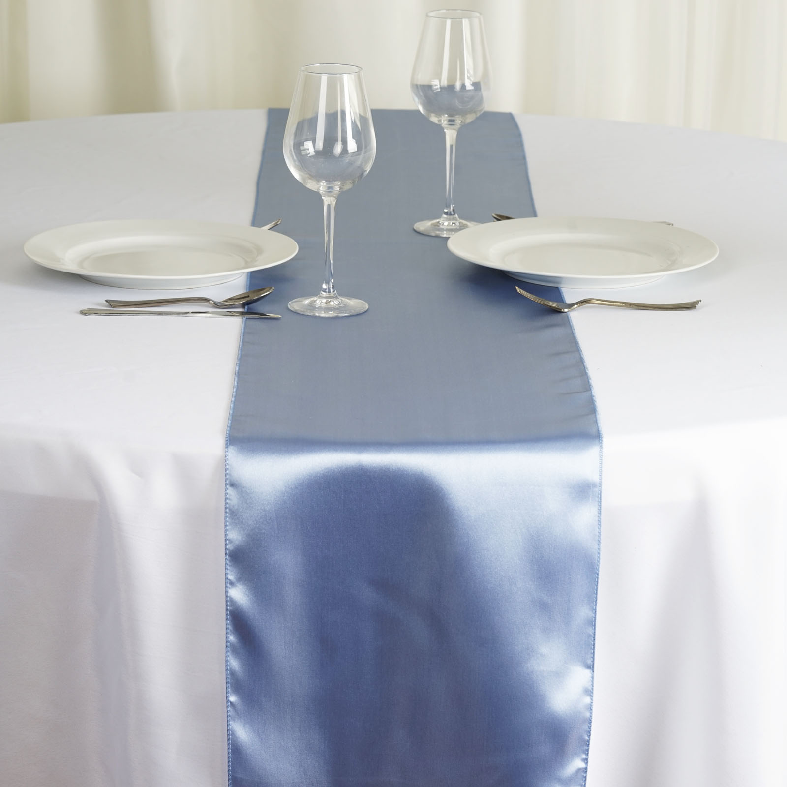12 x 108 satin table top runner wedding party catering for 108 table runner