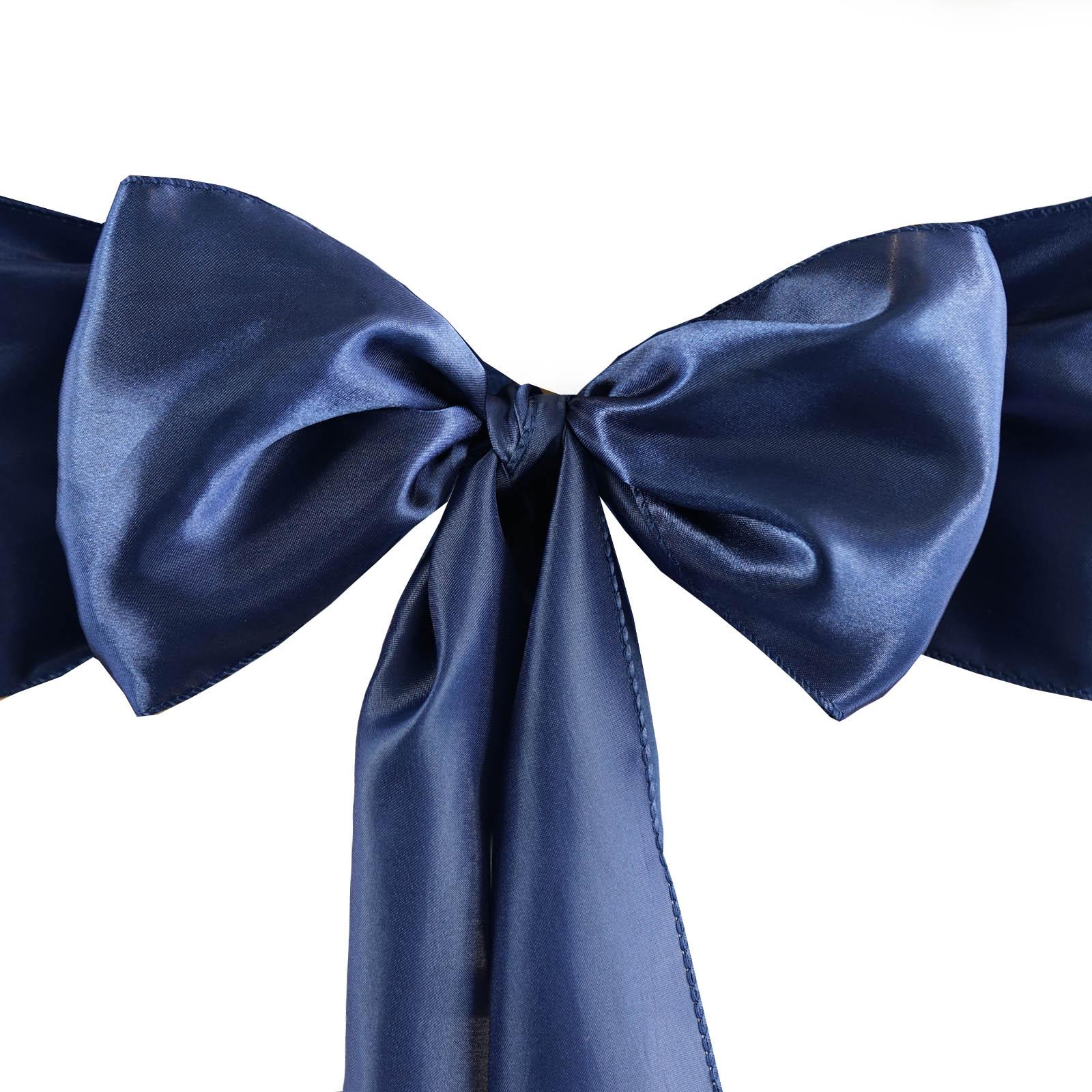 10 New SATIN Chair Sash BOWS Ties Wedding Bridal Party Supplies