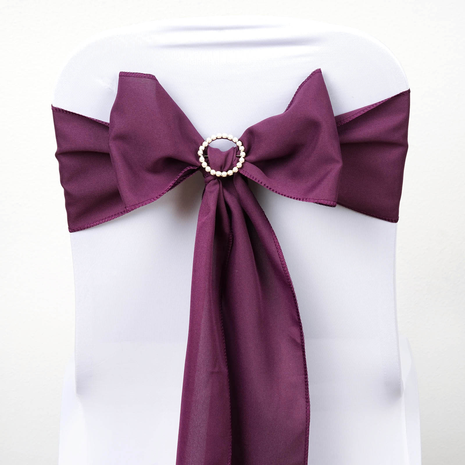100 Polyester CHAIR SASHES Bows Ties Wedding Party Supplies Wholesale Discount