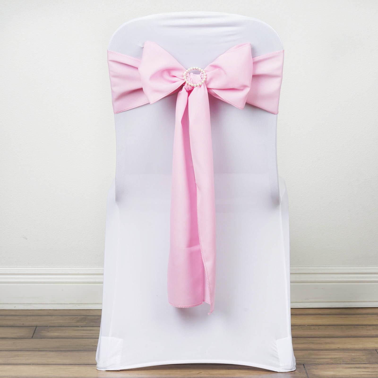 100 Polyester CHAIR SASHES Bows Ties Wedding Party Supplies Wholesale Discoun