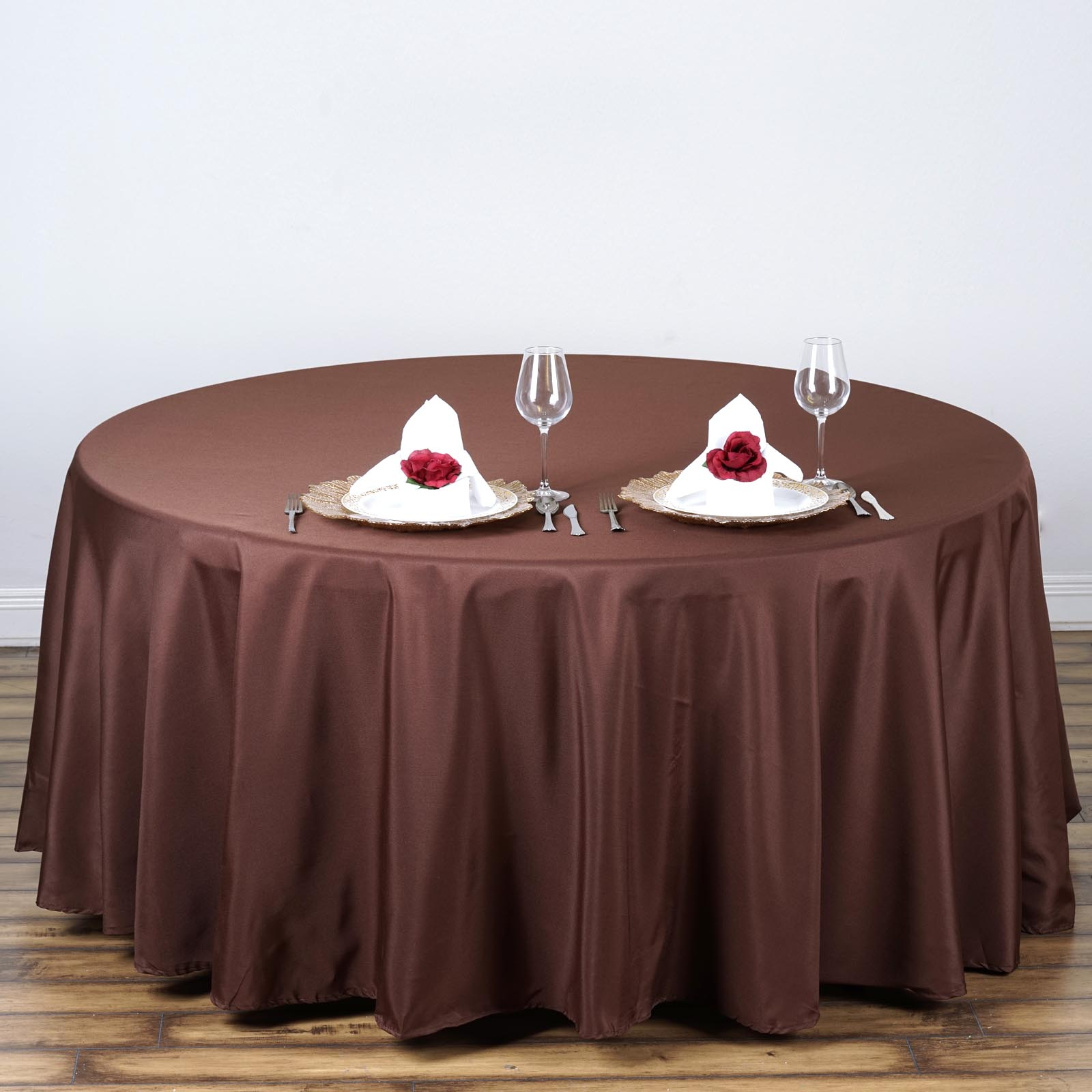 108 round polyester tablecloth wedding table linens for 108 round table cloth