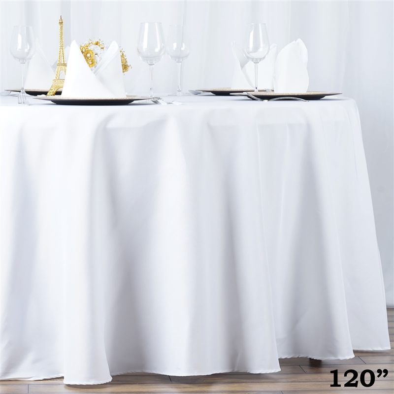 10 120 Quot Round Premium Polyester Tablecloths Wedding Party