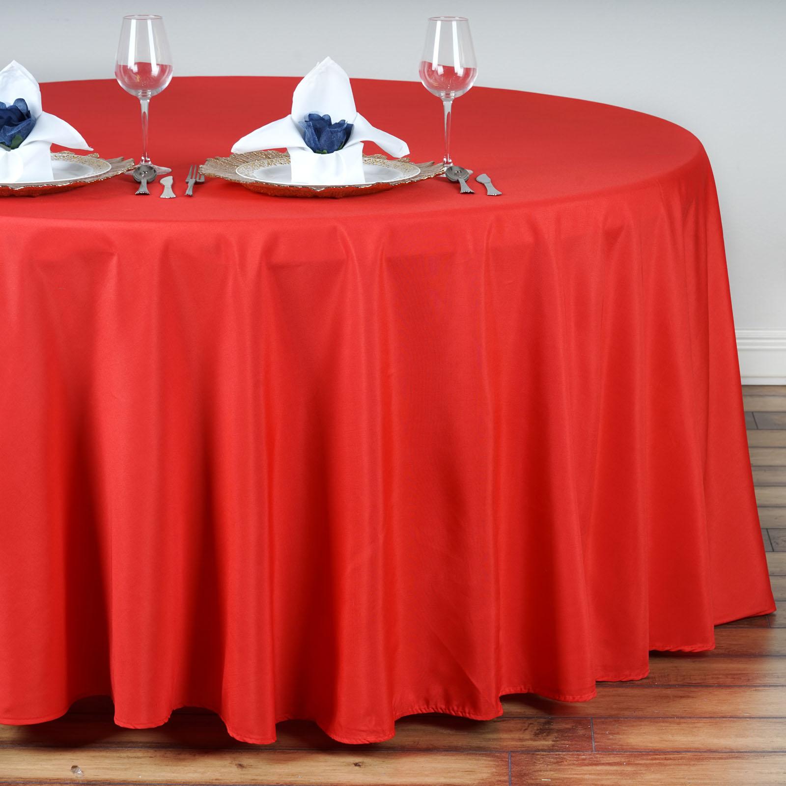 "6 pcs 132/"" Round Polyester Tablecloths Wedding Party Wholesale Huge Lot SALE"