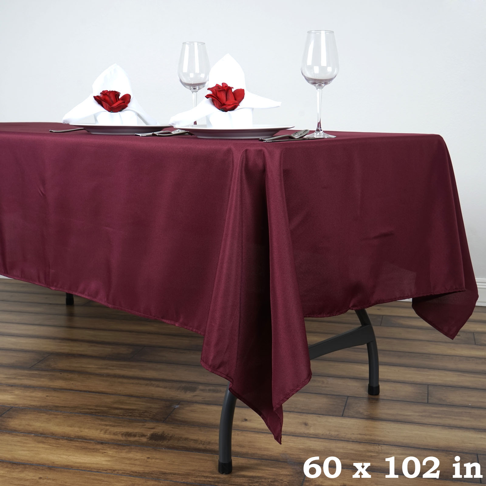 10 pcs 60 x 102 polyester rectangular tablecloths for 102 table runners