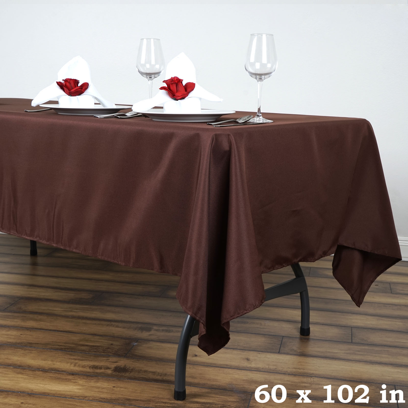 60x102 polyester rectangular tablecloth wedding catering for Table linens