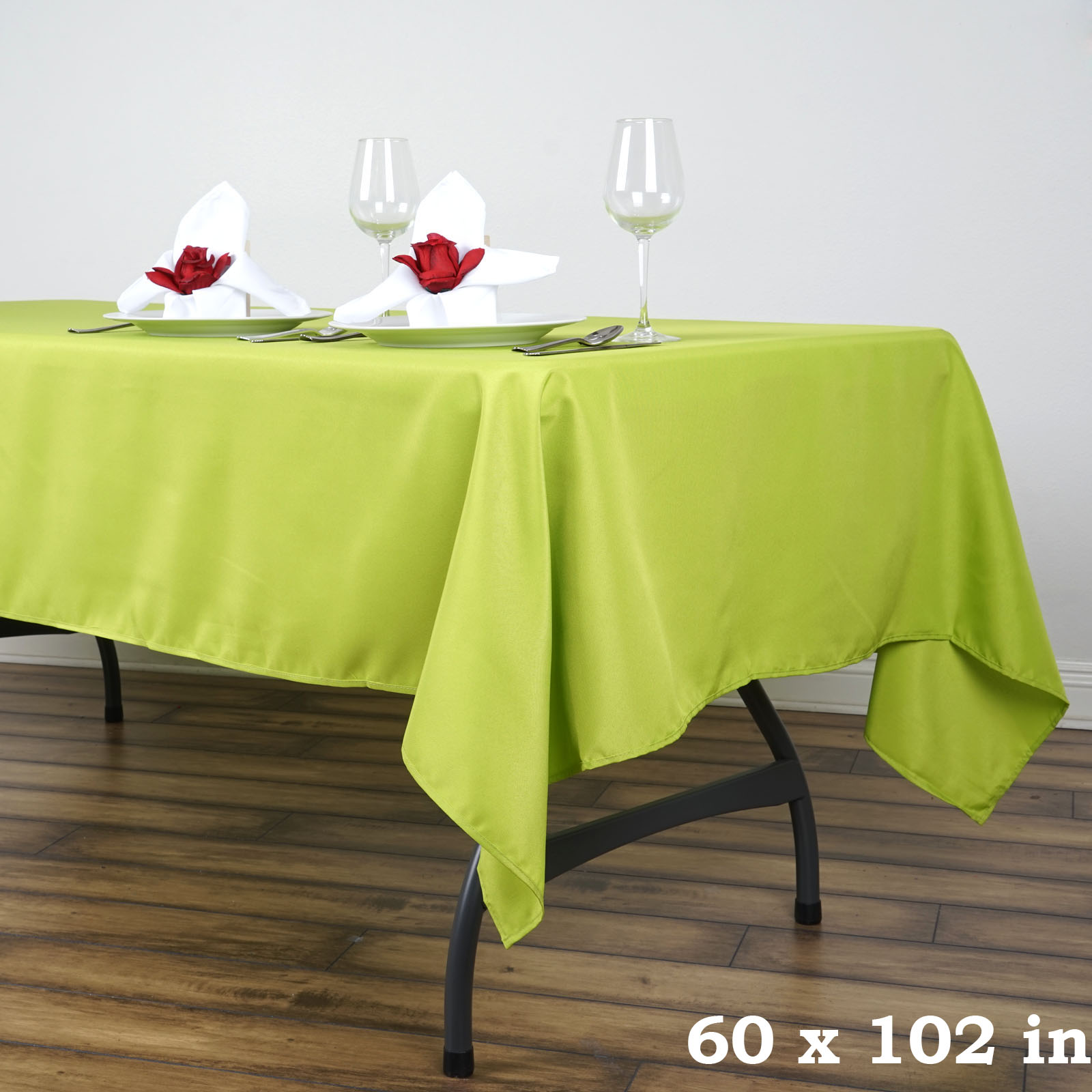 10 pcs 60 x 102 polyester rectangular tablecloths wedding table linens sale. Black Bedroom Furniture Sets. Home Design Ideas