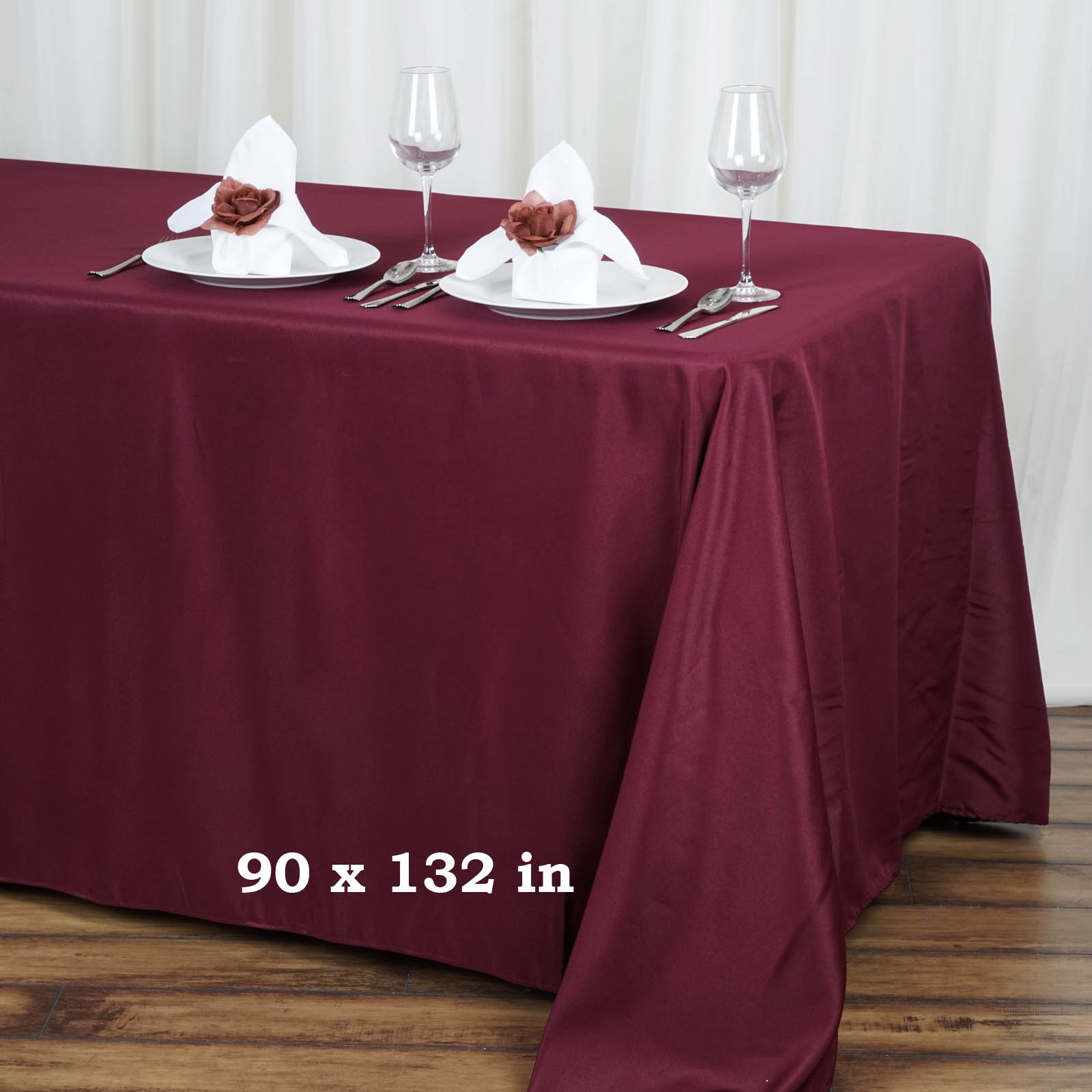 90 x 132 polyester tablecloth wedding party table linens for Table linens