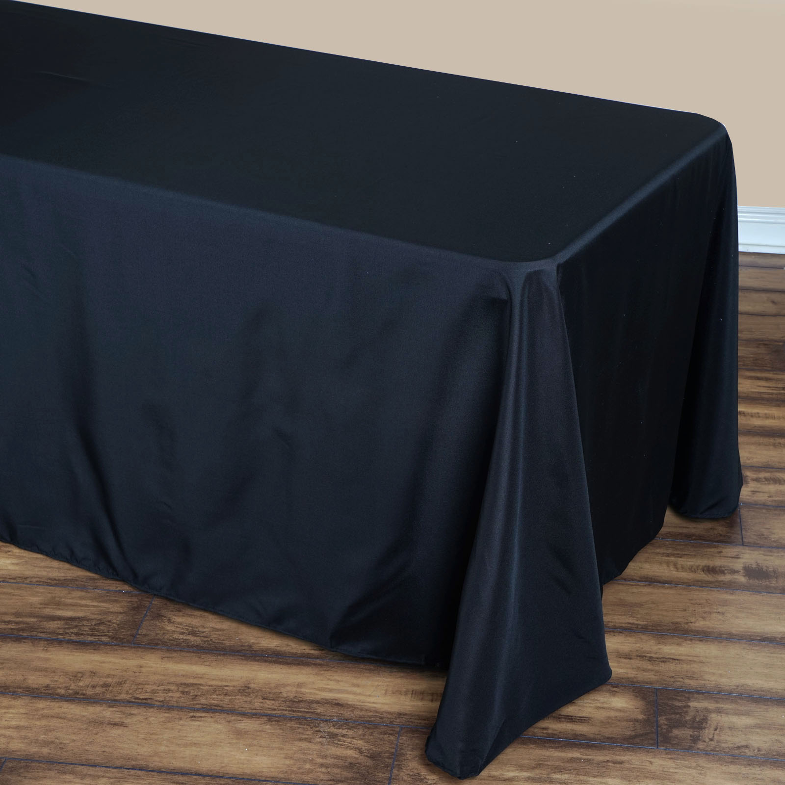 90 Quot X 132 Quot Polyester Tablecloth With Rounded Corners