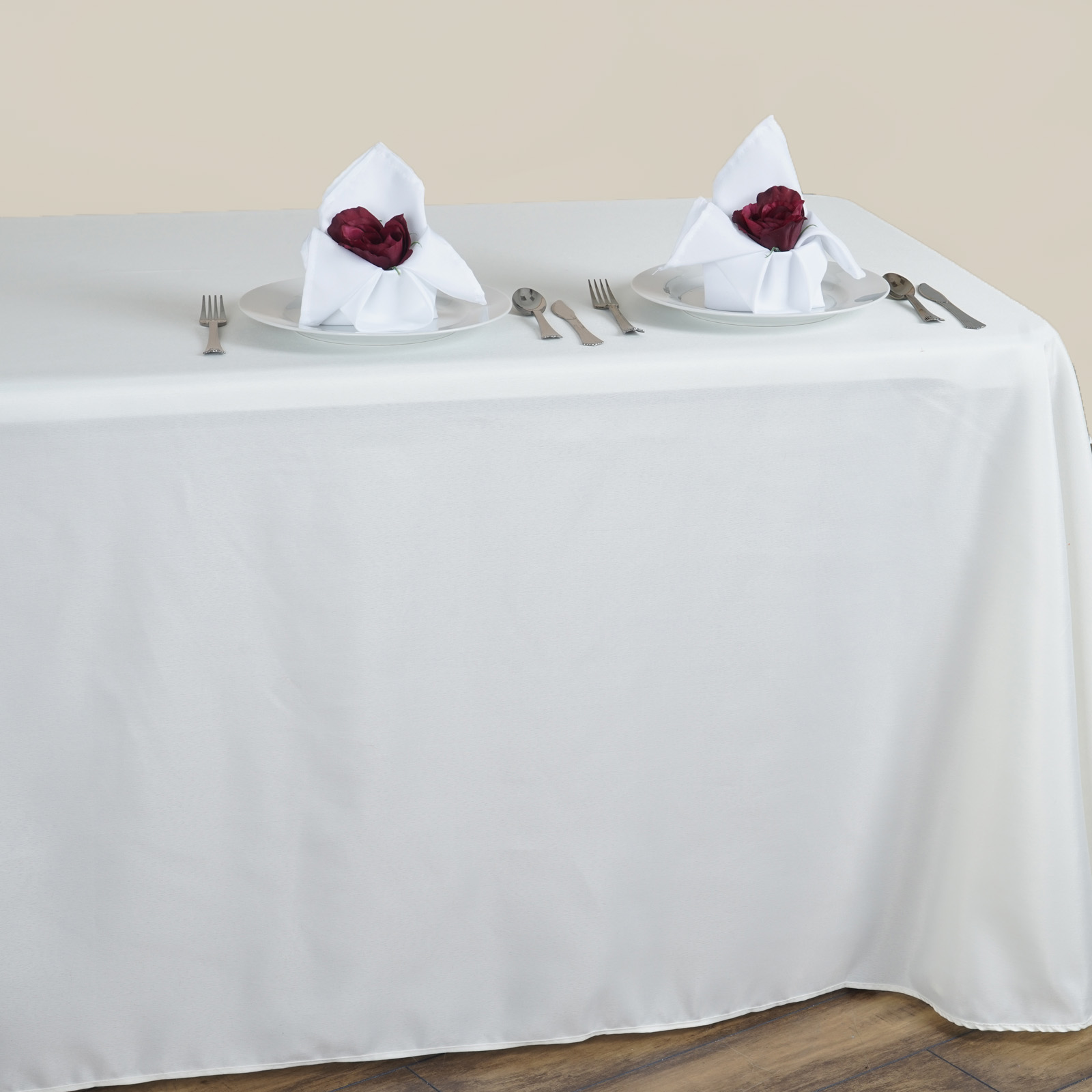 90 x 156 polyester tablecloth with rounded corners for Table linens