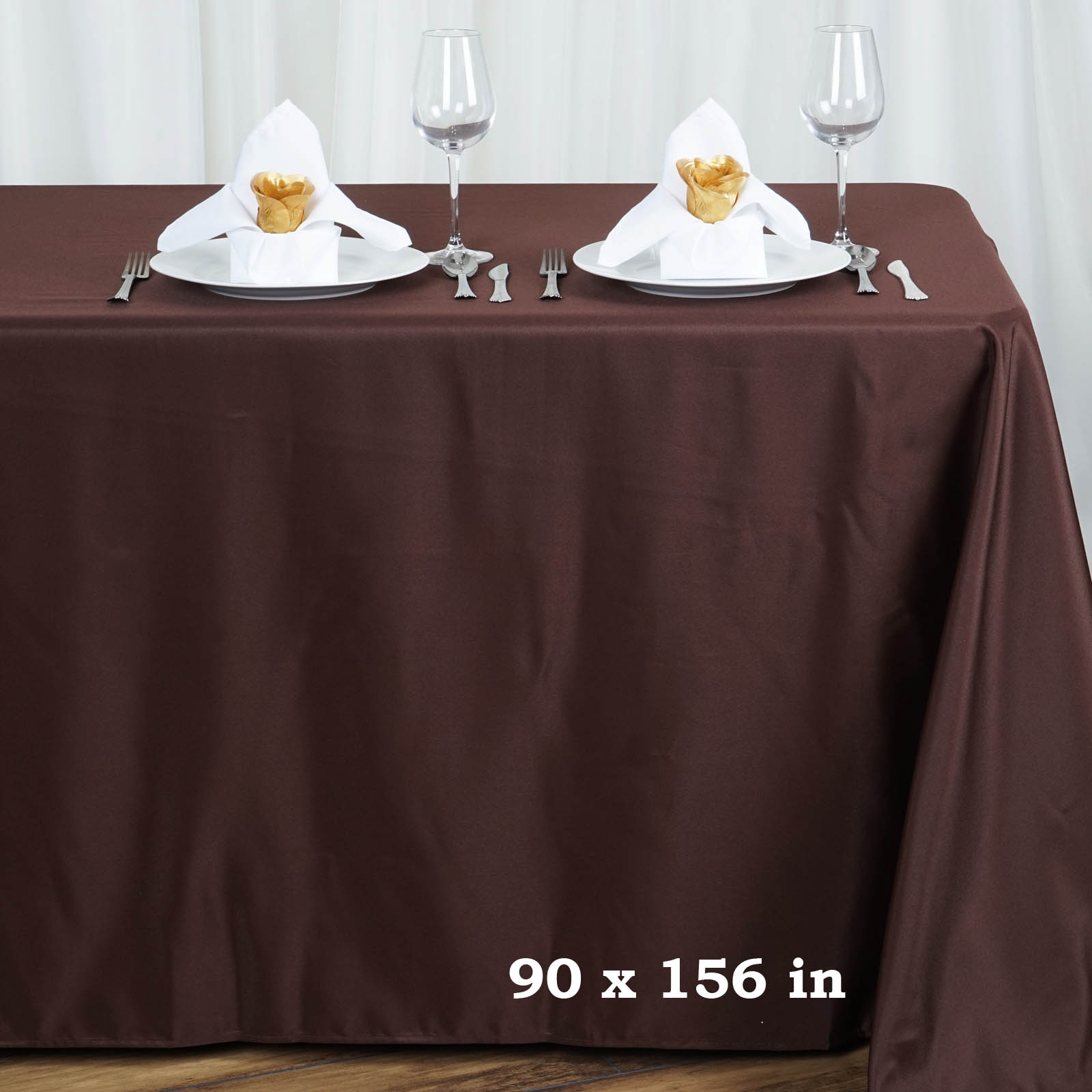 90x156 polyester tablecloth wedding table linens catering for Table linens