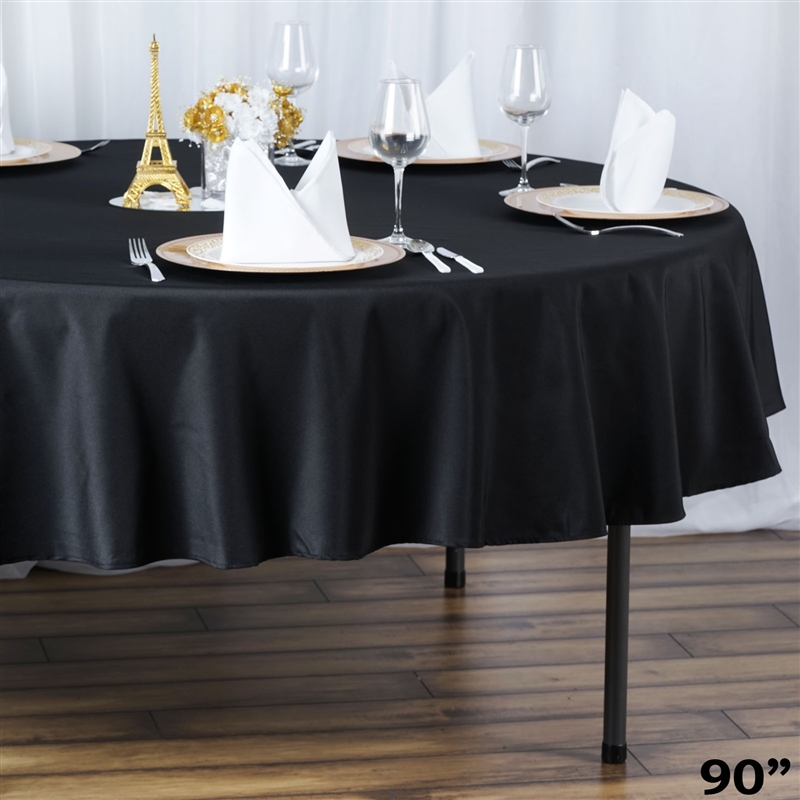 6 pcs 90 round premium polyester tablecloths wedding party table linens sale ebay. Black Bedroom Furniture Sets. Home Design Ideas