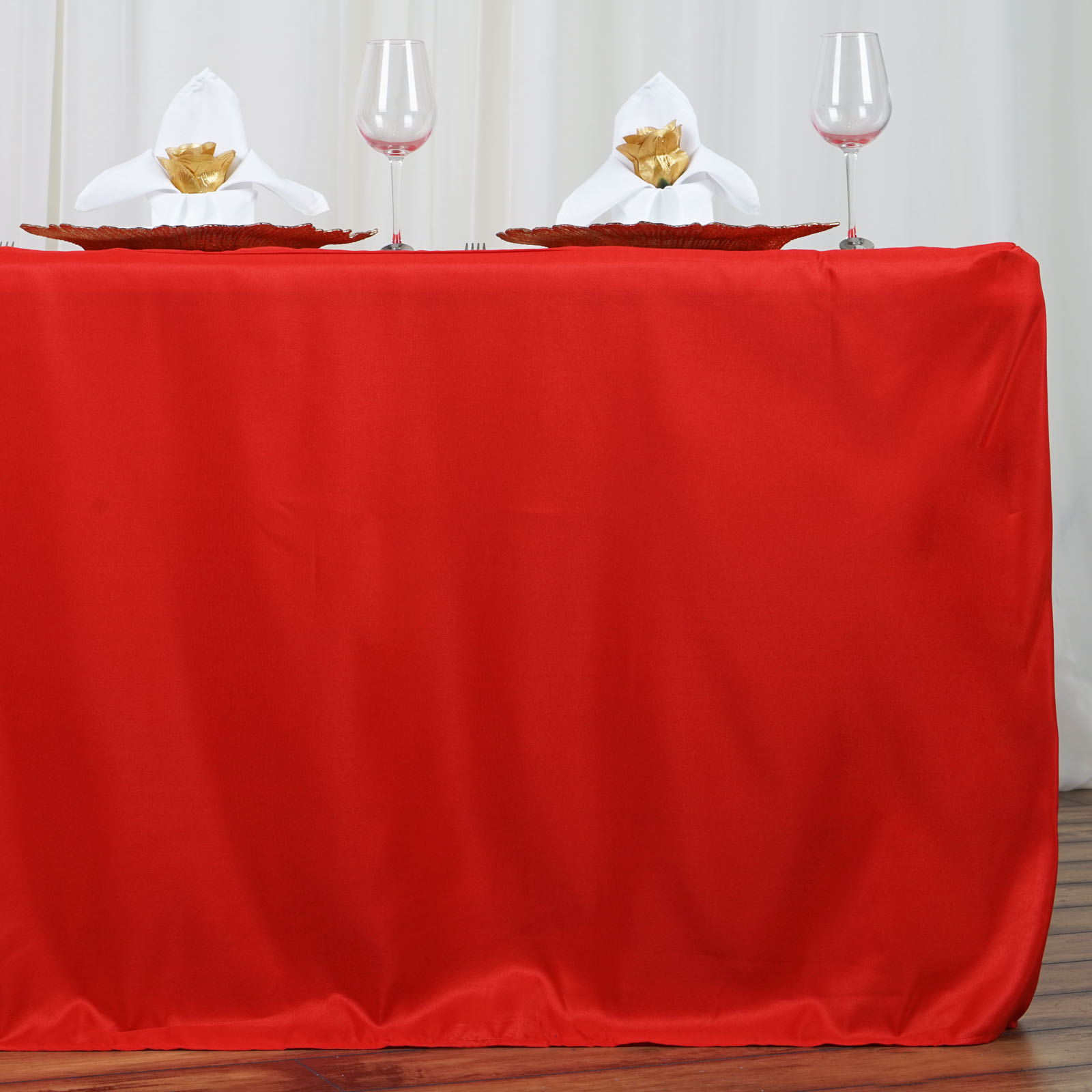 6 Feet Fitted Polyester Banquet Rectangle Tablecloth