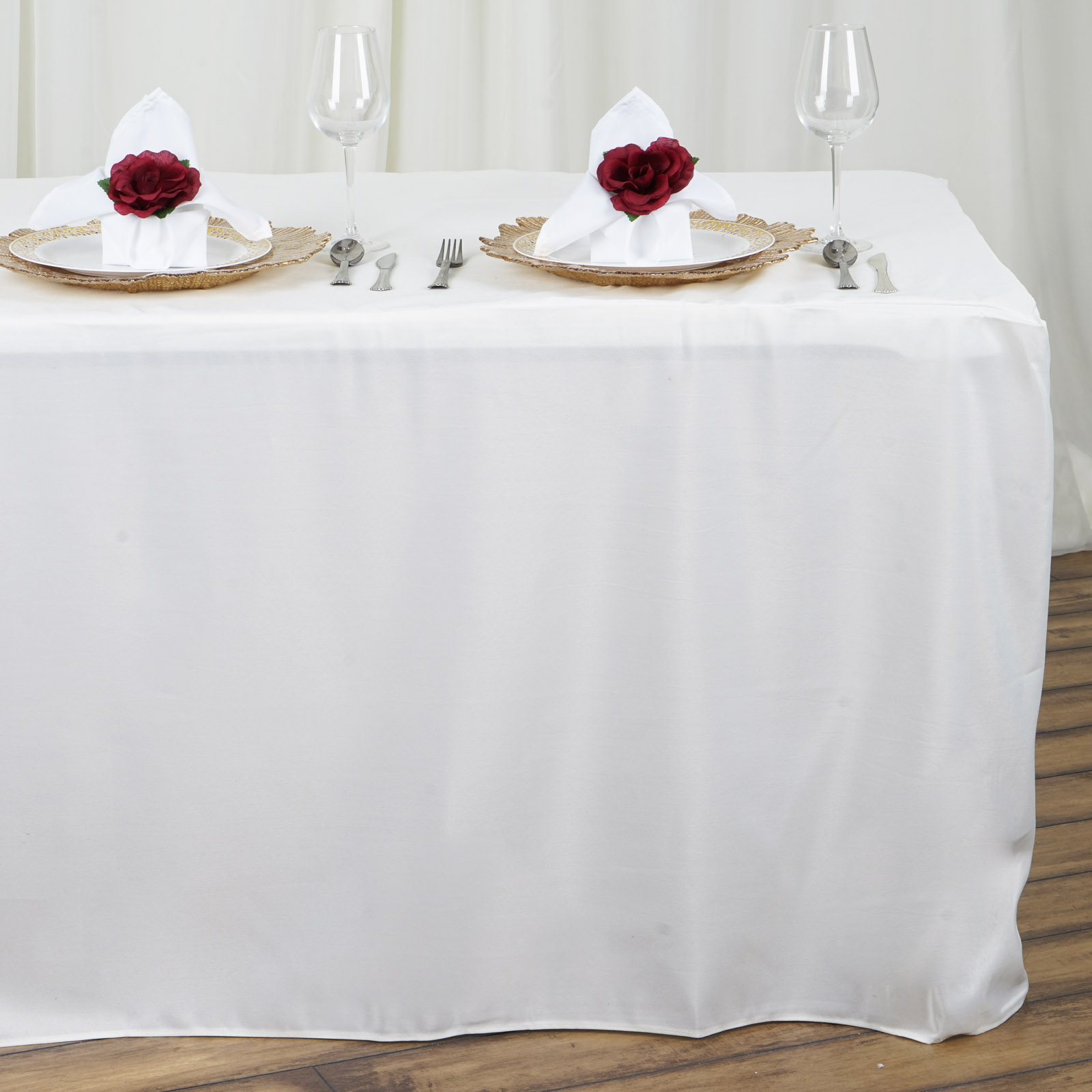 8 feet FITTED Polyester Banquet Tablecloth Wedding Table  : tabfit8ivr01 from www.ebay.com size 1600 x 1600 jpeg 229kB