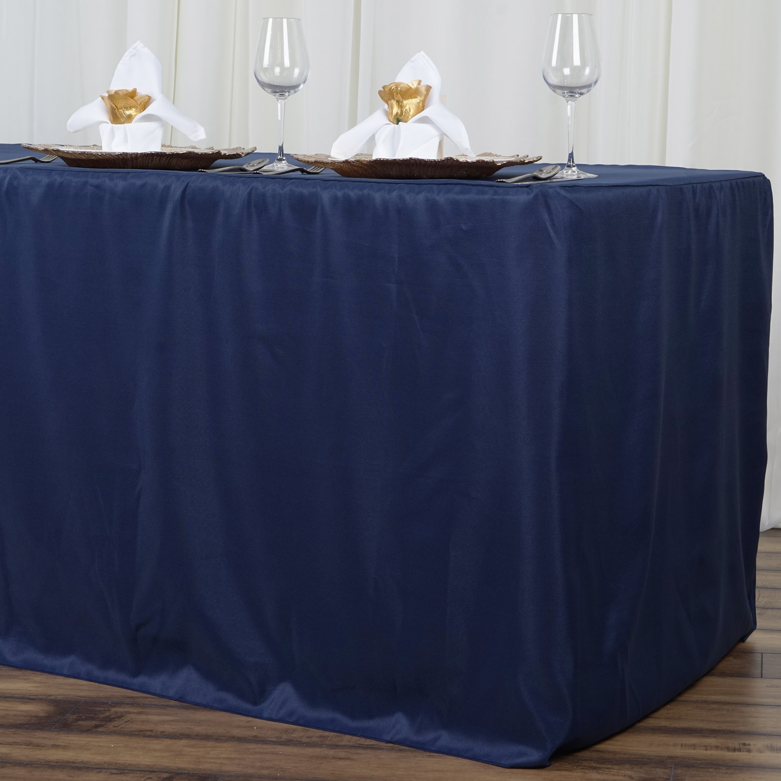 8 Feet Fitted Polyester Banquet Tablecloth Wedding Table