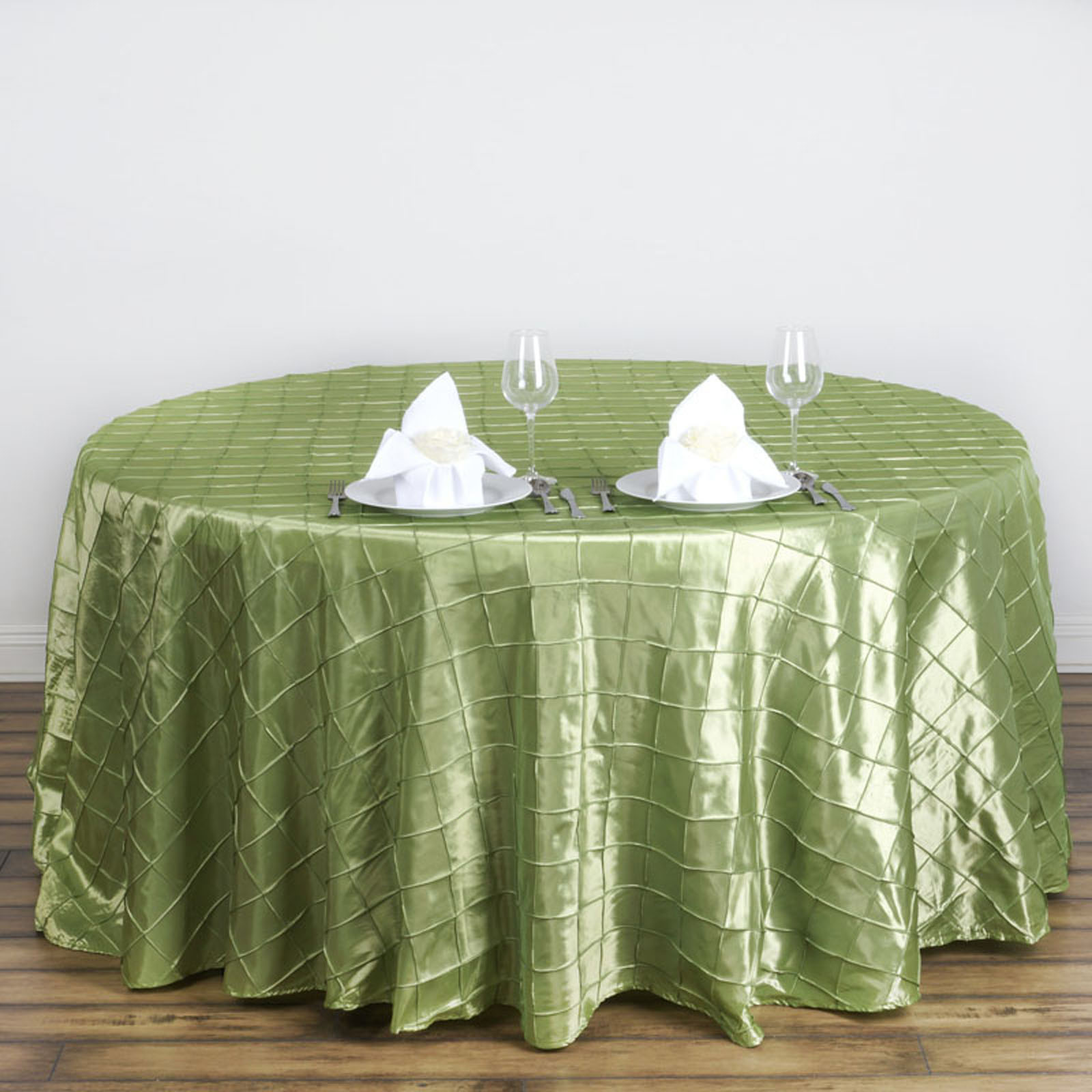 """10 pcs 120"""" Pintuck Fancy Round Tablecloths Linens for ..."""