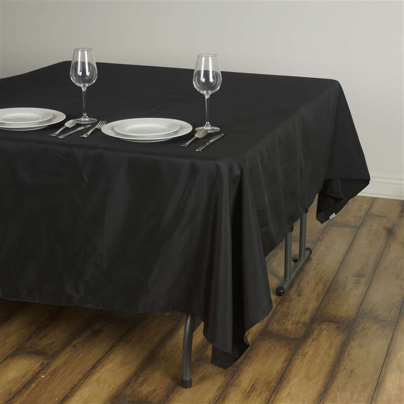 90x90quot SQUARE POLYESTER Tablecloth Black White or Ivory  : tabsqur90blk 2 from www.ebay.com size 800 x 800 jpeg 34kB