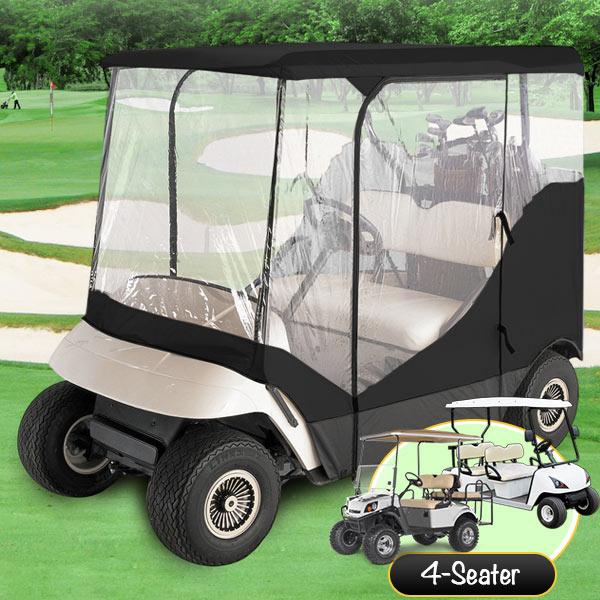 Yamaha Golf Cart Covers And Enclosures : Passenger driving enclosure golf cart cover fit ez go