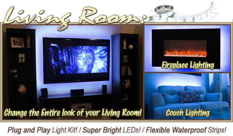 Living Room TV Television LED Lighting Strip Dimmer Remote