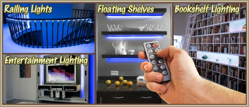 Living Room TV Television LED Lighting Strip + Dimmer ...