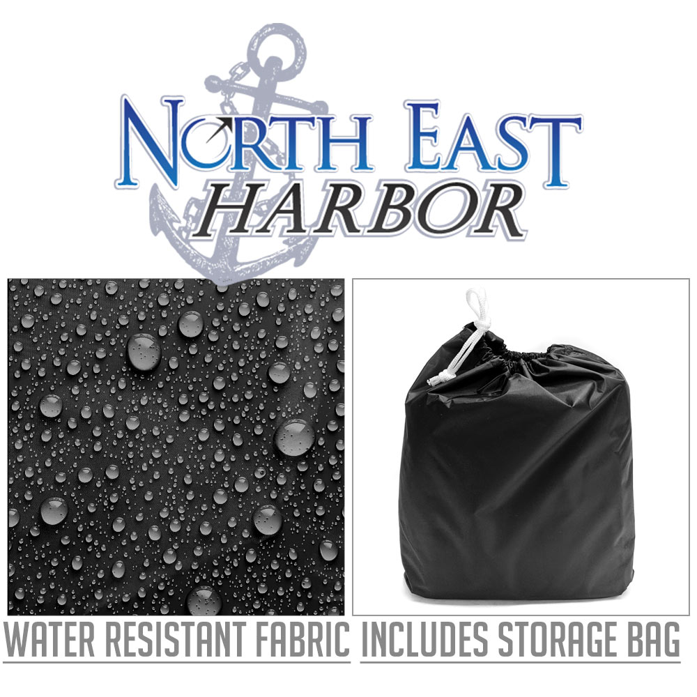 "14.5/"" x 17.5/"" Black Premium Waterproof Electric Trailer Tongue Jack Cover"