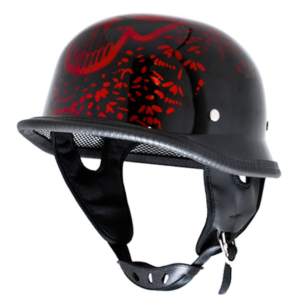 Low profile half helmets
