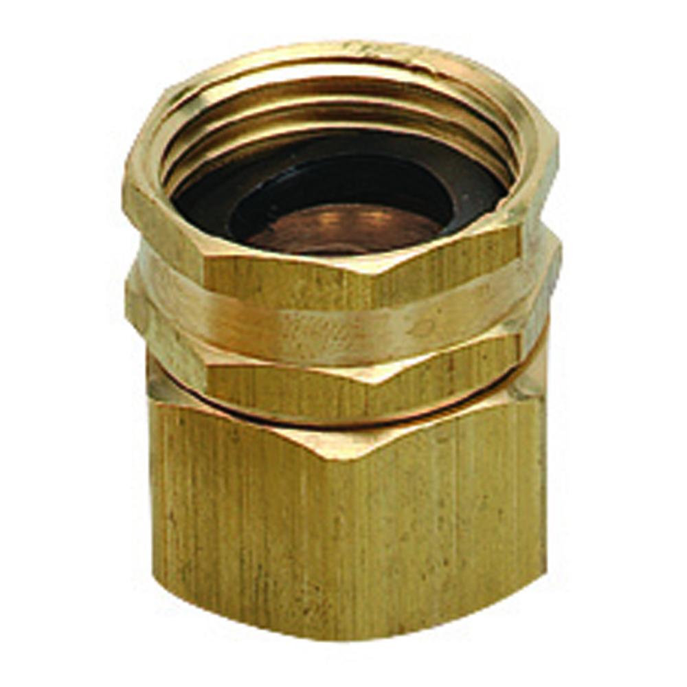 Orbit brass double swivel water garden hose to
