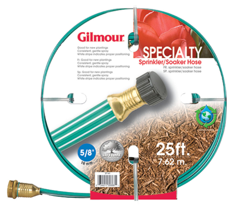 this flat gilmour soaker hose is a sprinkler hose and soaker hose in