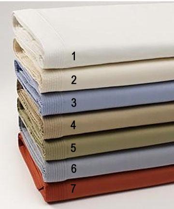 calvin klein 300 thread count split stitch flat sheet king safflower ebay. Black Bedroom Furniture Sets. Home Design Ideas