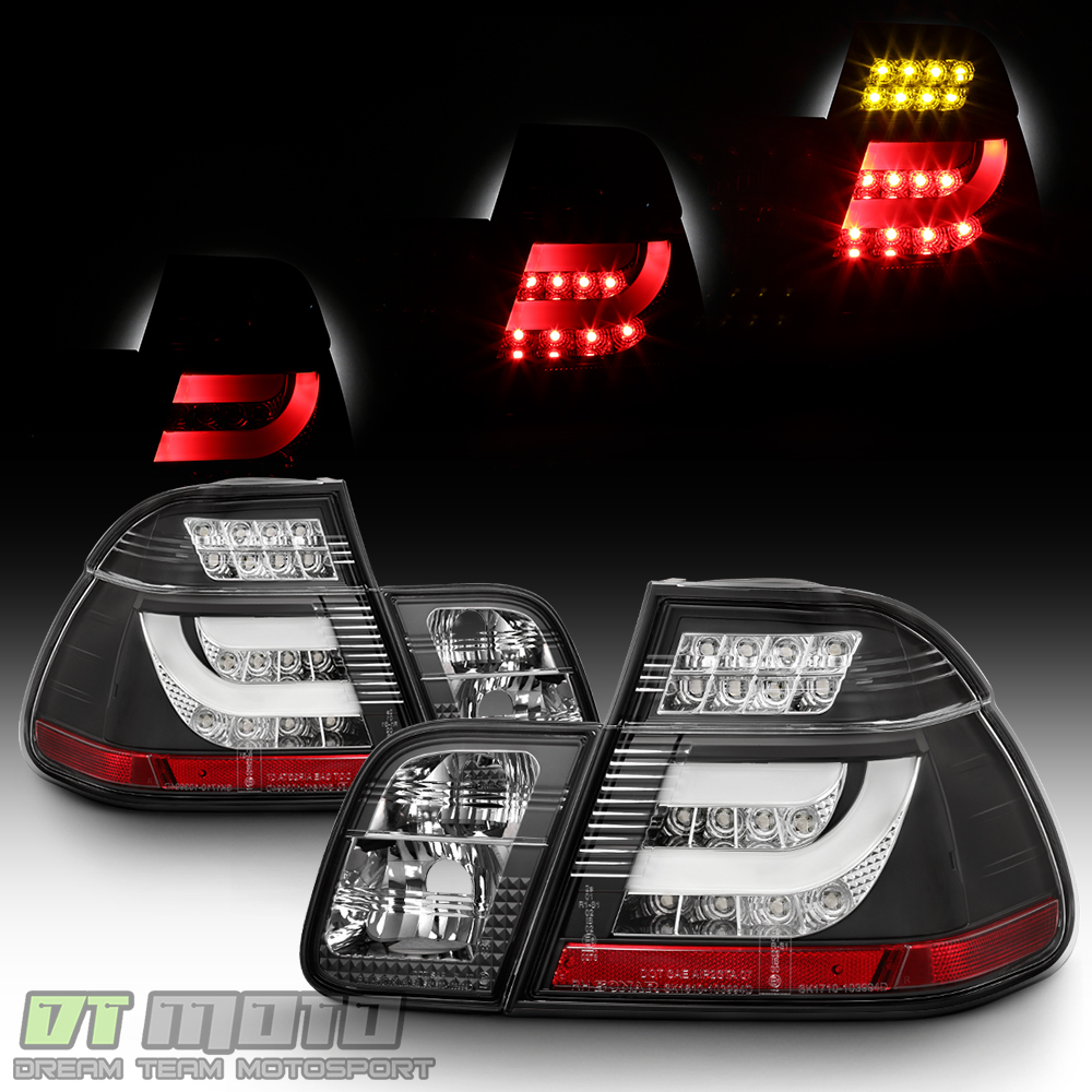 Black 99-01 Bmw E46 3-Series 4Dr Philips-Led Perform Tail