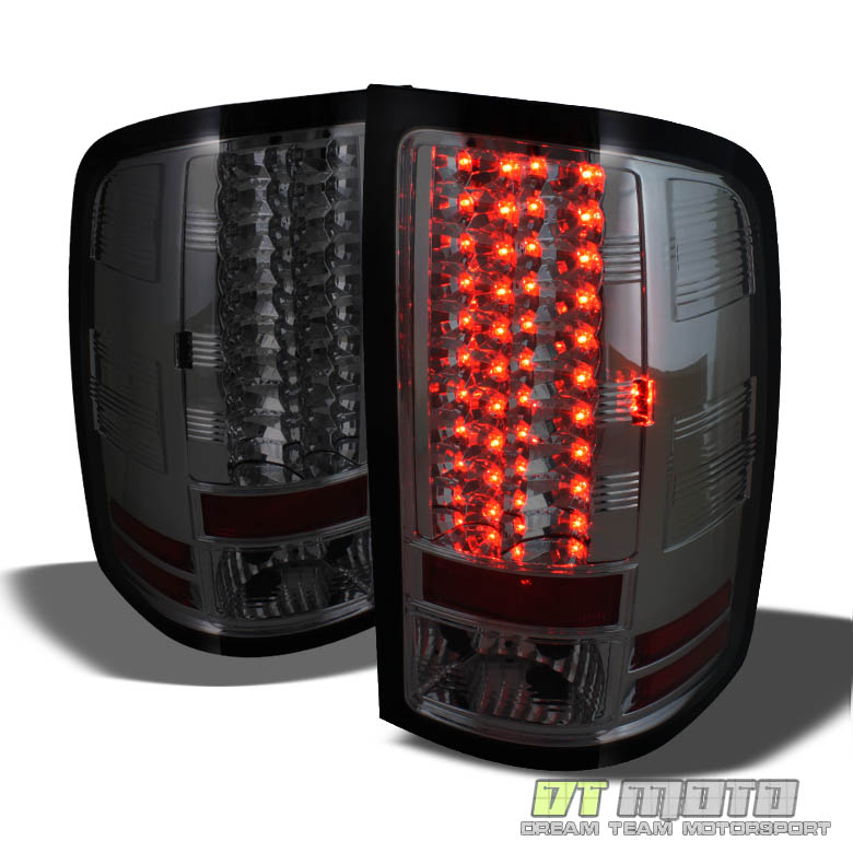 smoked 07 13 gmc sierra pickup philips led perform tail. Black Bedroom Furniture Sets. Home Design Ideas