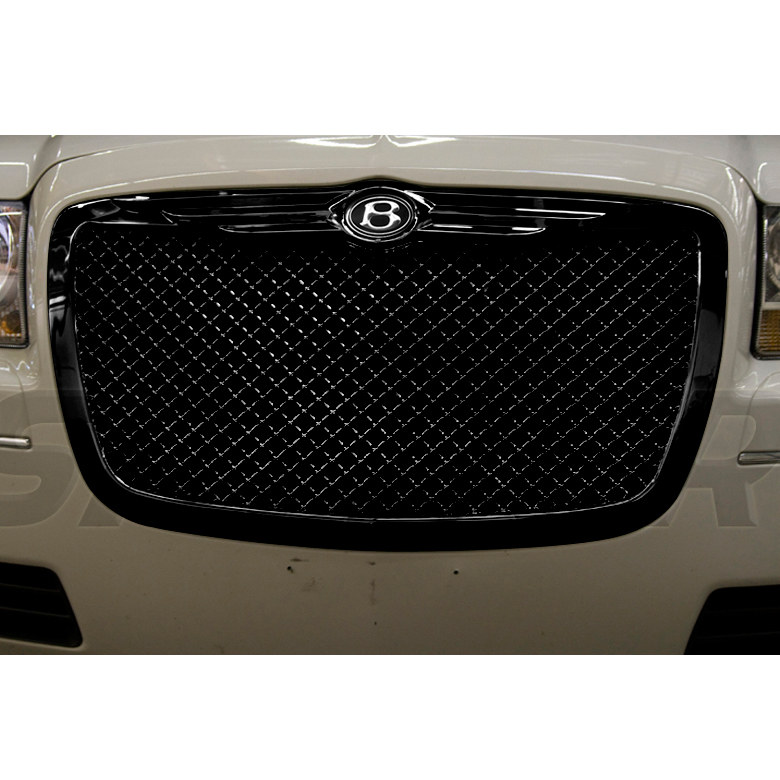 04-10 CHRYSLER 300 300C BLACK FRONT GRILLE GRILL+BENTLEY