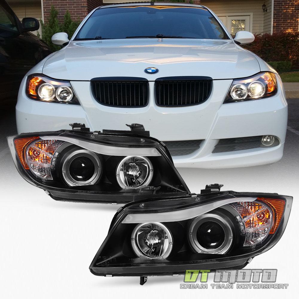 Bmw Xi 2006: Blk 2006 2007 2008 BMW E90 3-Series Sedan LED Eye Lid Halo