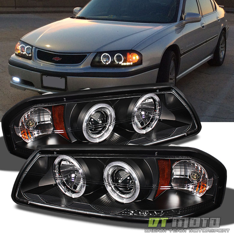 Black 00-05 Chevy Impala Dual Halo Projector Led