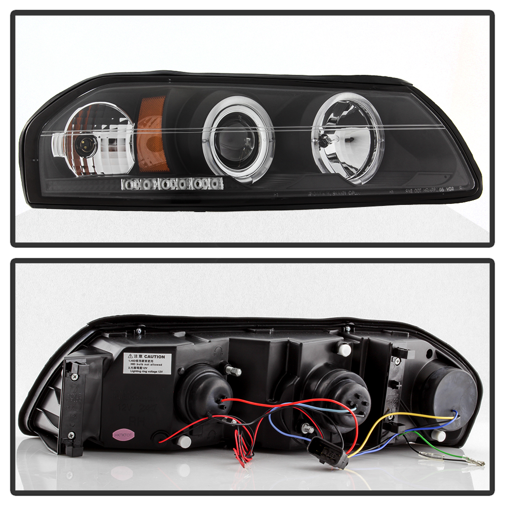 blk 2000 2005 chevy impala led dual halo projector. Black Bedroom Furniture Sets. Home Design Ideas