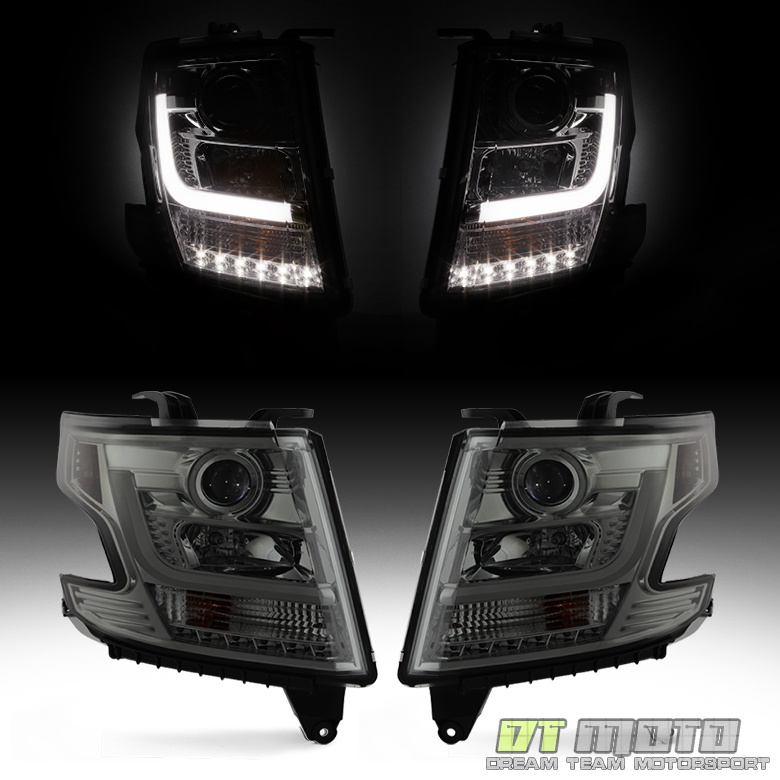 Smoke 15 17 Chevy Suburban Tahoe Led Light Tube Projector