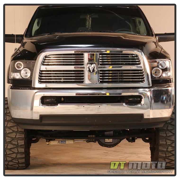 Black 2009-2017 Dodge Ram LED Halo Projector Headlights ...
